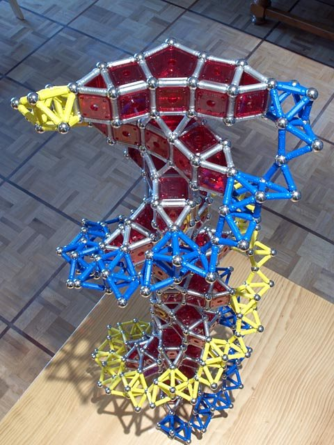 GEOMAG constructions: DNA double helix, version 1, oblique top view