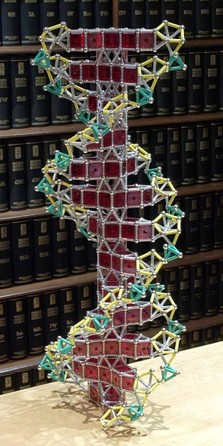 GEOMAG constructions: DNA double helix, version 2, view 2