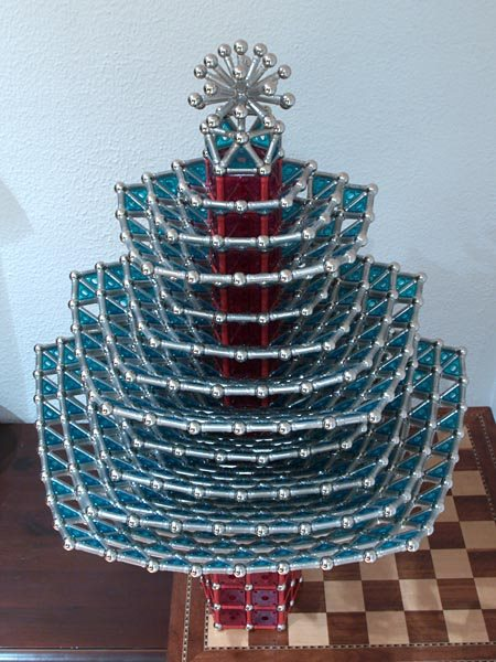 GEOMAG constructions: Christmas tree, view 2