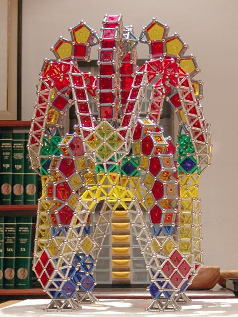 GEOMAG constructions: Two-level folly based upon chapel 2, side view 1