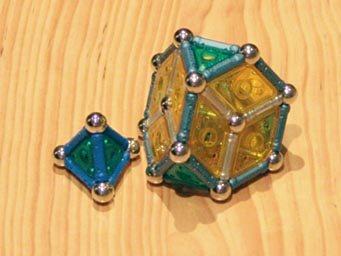 Constructions GEOMAG: tétraèdre et tétraèdre tronqué