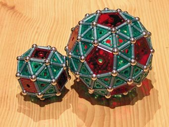 GEOMAG: cuboctaèdre adouci et icosidodécaèdre