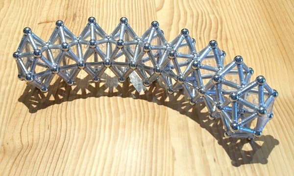 GEOMAG constructions: Arch of 9 sphenomegacoronae, view 2
