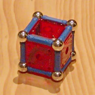 Constructions GEOMAG: cube ou hexaèdre régulier
