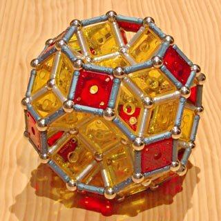 Constructions GEOMAG: Cuboctaèdre tronqué à rhombit