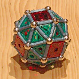 Constructions GEOMAG: cuboctaèdre adouci
