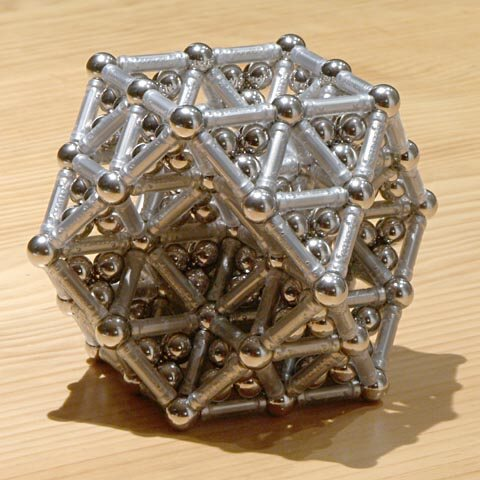 GEOMAG constructions: Double-scale filled cuboctahedron