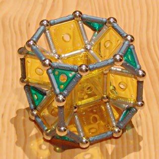Constructions GEOMAG: Cube tronqué