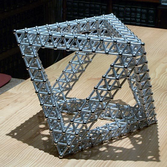 GEOMAG constructions: Giant regular octahedron as a triangular antiprism