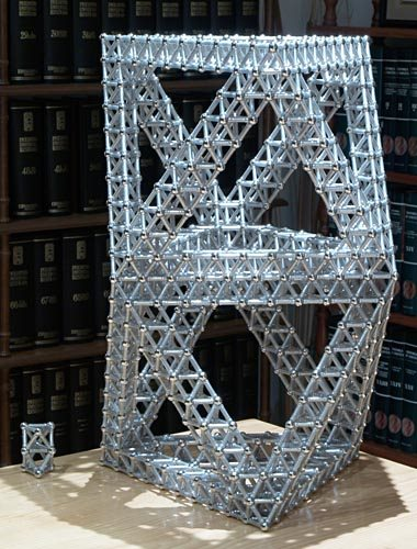 GEOMAG constructions: Two stacked giant octahedra, view 1