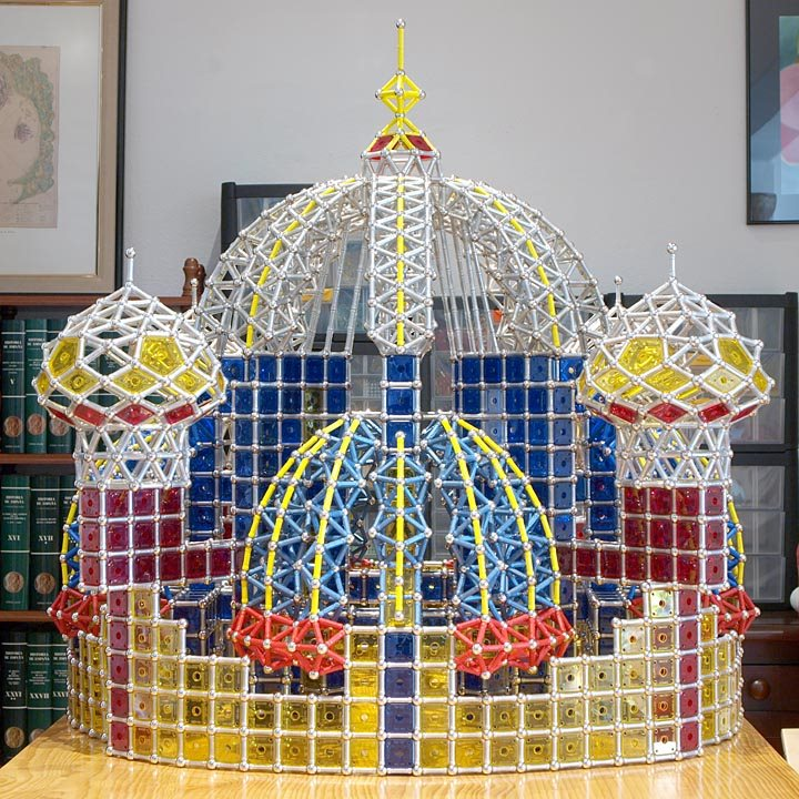 GEOMAG constructions: Suleiman the Magnificent Mosque, view 1