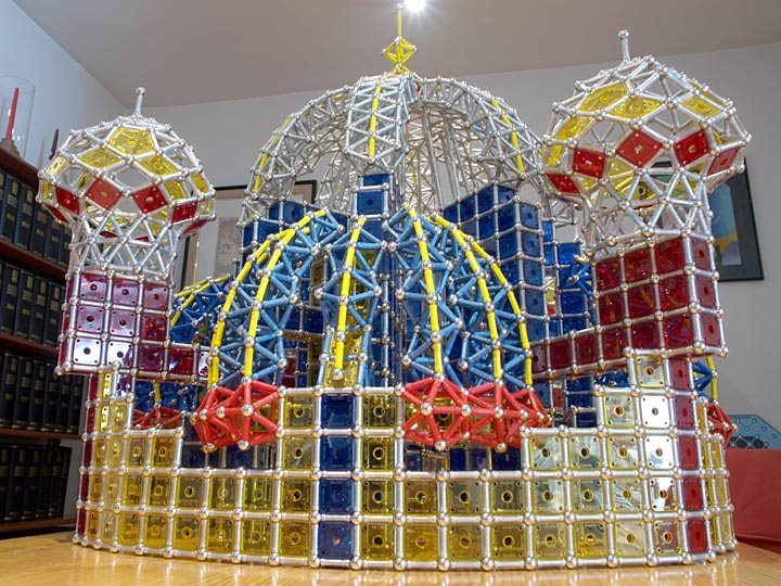 GEOMAG constructions: Suleiman the Magnificent Mosque, view 6
