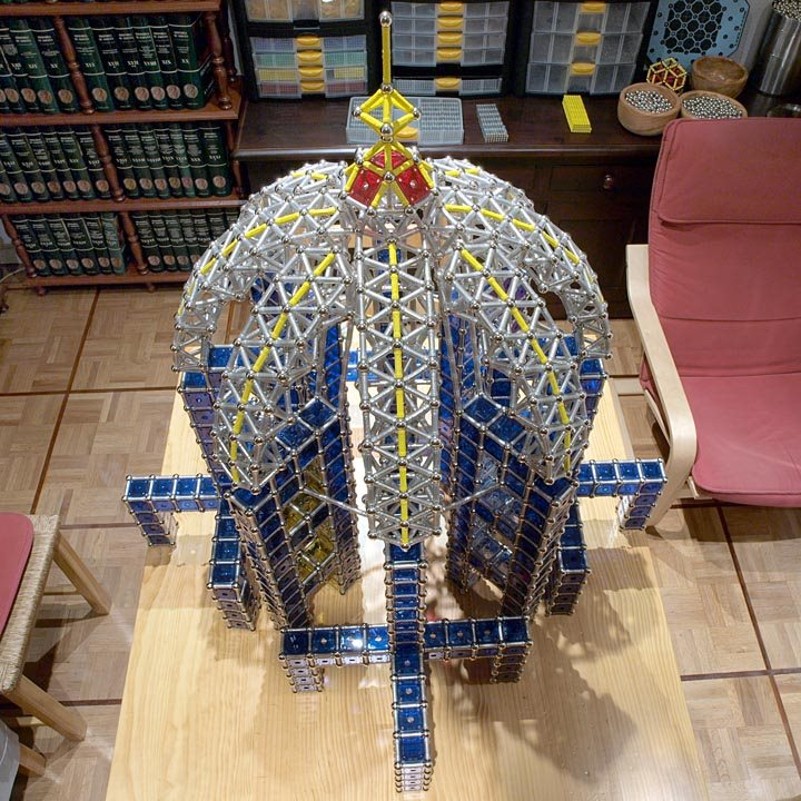GEOMAG constructions: Suleiman the Magnificent Mosque, main dome, view 2