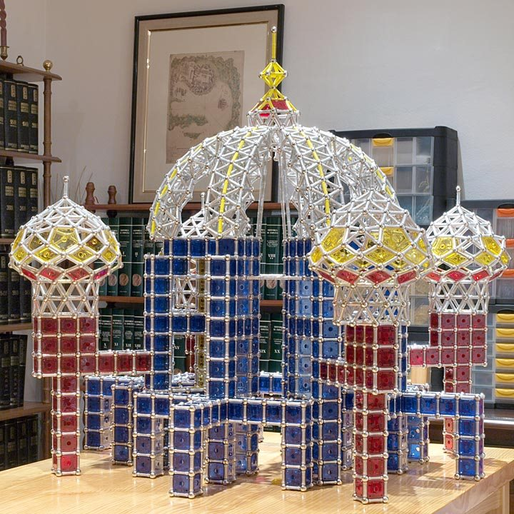 GEOMAG constructions: Suleiman the Magnificent Mosque, middle domes, attached