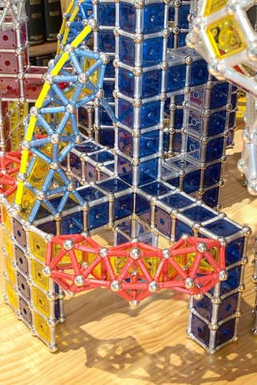 GEOMAG constructions: Suleiman the Magnificent Mosque, basis and central segment of a semidome